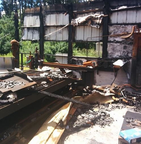 Machine Shop Fire Damage