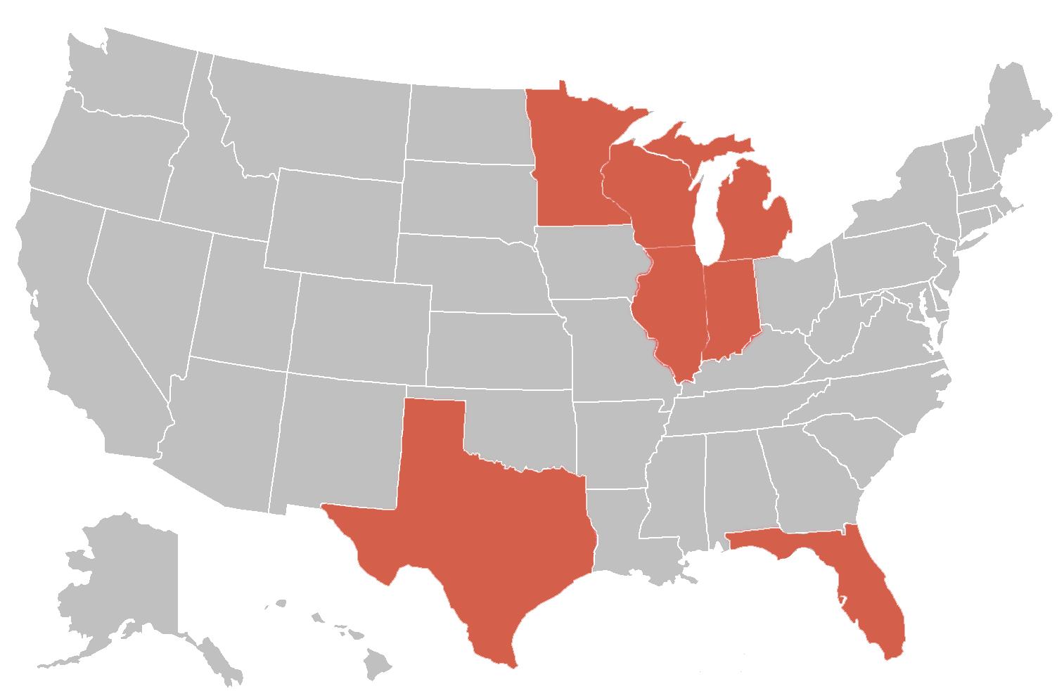 Public Adjuster Service Areas