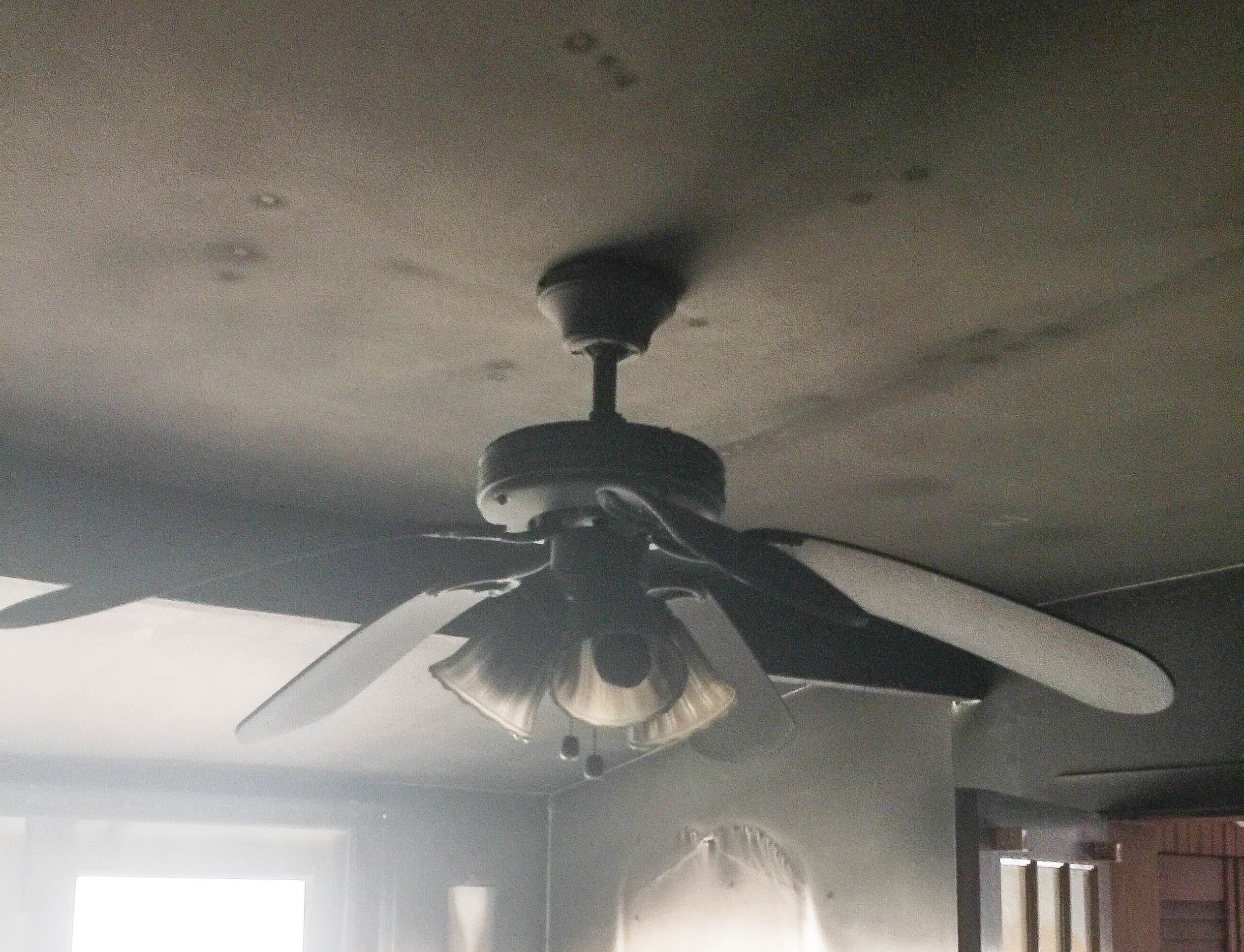 Christine S. Fire Damage Ceiling